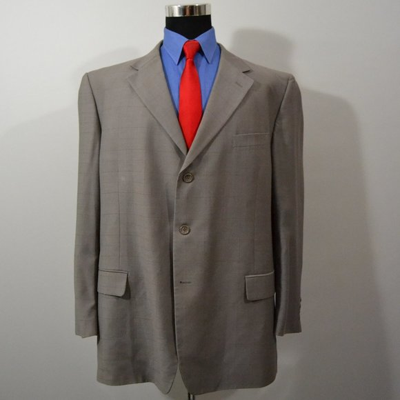 Caravelli Other - Caravelli 48L Sport Coat Blazer Suit Jacket Gray W